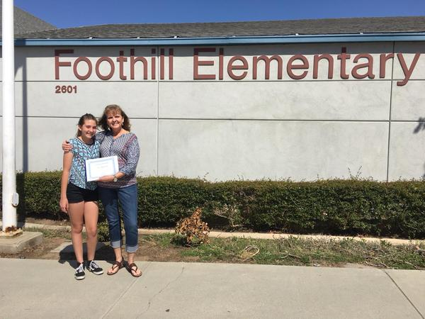 Thank you for teaching our 6th graders at Foothill Elementary!