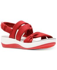 Image of Clarks Collection Women's Cloudsteppers Arla Mae Wedge Sandals