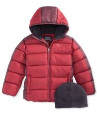 Image of Hawke & Co. Outfitter Branson Hooded Puffer Jacket with Hat, Toddler Boys (2T-5T)