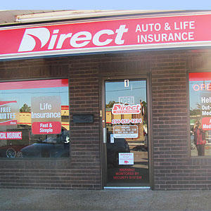 Front of Direct Auto store at 1004 Jordan Lane Northwest, Huntsville