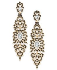 Image of INC International Concepts Crystal Filigree Drop Earrings, Created for Macy's