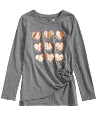 Image of Epic Threads Big Girls Heart Stacks Graphic Top, Created for Macy's