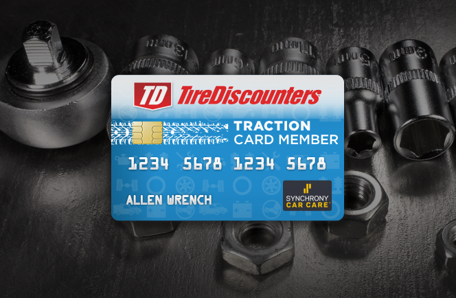 Buy Now. Pay over time with the Tire Discounters Credit Card.