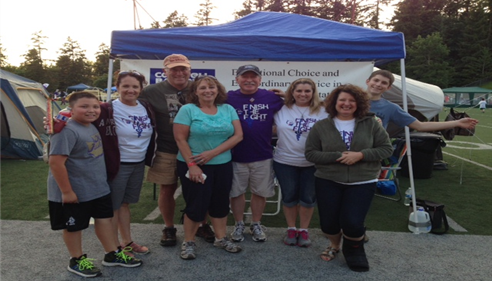 KENT Relay for Life with my team! That's me on the end!
