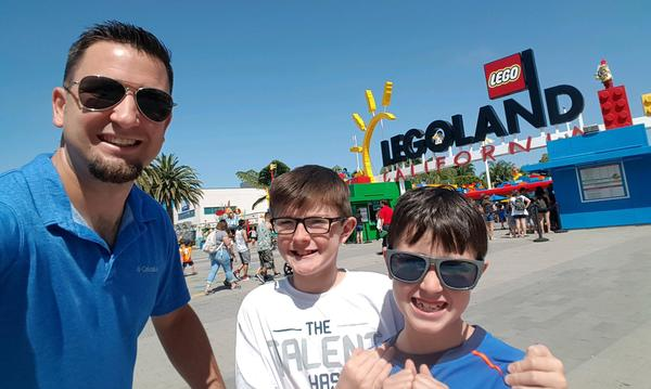 Steve Moehr with a couple of his kids at Legoland