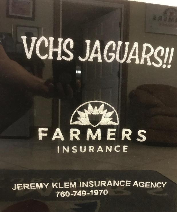 VCHS Jaguars sign with farmers logo