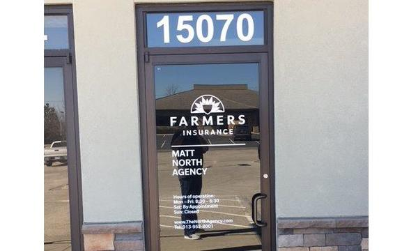 The front door of The Matt North Agency.