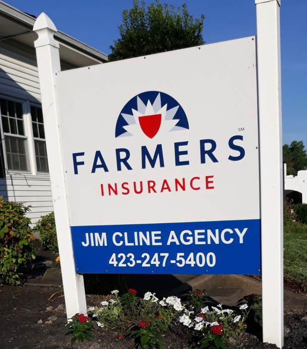 Cline agency exterior sign