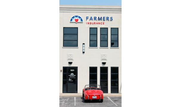 The front facade of the Farmers Insurance office