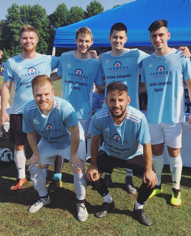 Soccer team at Community of Bosniaks Soccer Tournament 2018