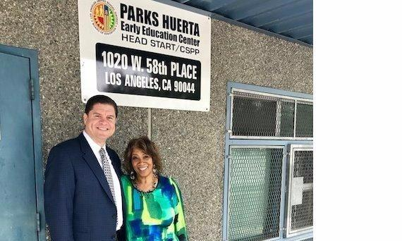 Me and Dr. Iadrana Williams from Parks Huerta Early Education Center in Los Angeles.