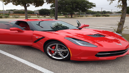 The Farmers®  Corvette Stingray at the Hernandez Middles School Band car show!
