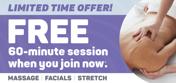 GET A FREE 60-MINUTE SESSION WITH YOUR NEW MEMBERSHIP!Now through February 14, 2021.*