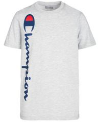 Image of Champion Big Boys Heritage Logo-Print T-Shirt