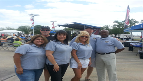 The Exchange Club of Fm 1960 and myself at The Texas Best Music Fest.