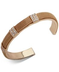 Image of Anne Klein Pavé Mesh Cuff Bracelet, Created for Macy's