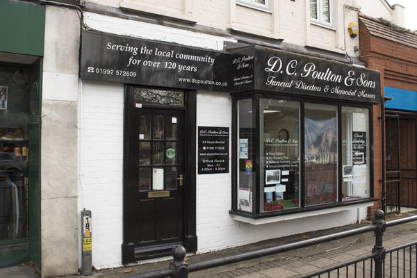 D C Poulton & Sons Funeral Directors in Epping, London.