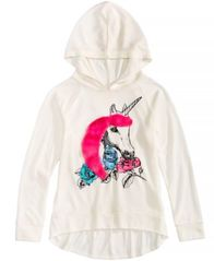 Image of Belle Du Jour Hooded Unicorn Top, Big Girls