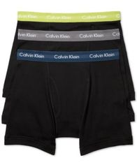 Image of Calvin Klein Men's Cotton Classic Boxer Briefs 3-Pack NU3019