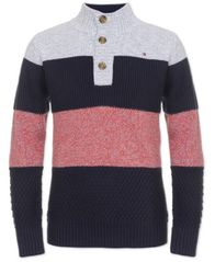 Image of Tommy Hilfiger Big Boys Colorblocked Mock Neck Sweater