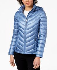 Image of Calvin Klein Hooded Packable Down Puffer Coat