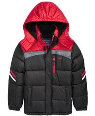 Image of CB Sports Hooded Colorblocked Puffer Coat, Big Boys (8-20)