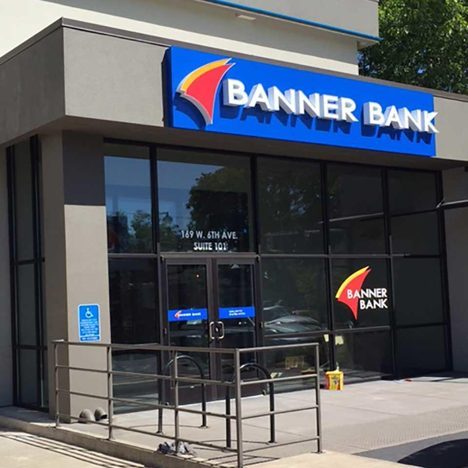 Banner Bank branch in downtown Eugene, Oregon