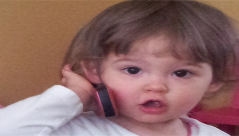 Brooklyn, my daughter, cold calling for Spencer Lund Farmers® Insurance Agency.