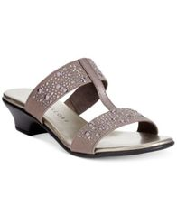 Image of Karen Scott Eddina Embellished Slide Sandals, Created for Macy's