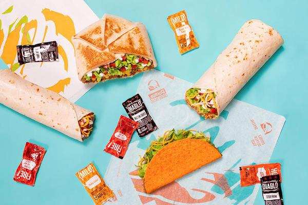 Sign up for a Taco Bell account and receive 15% off your order online or on the app