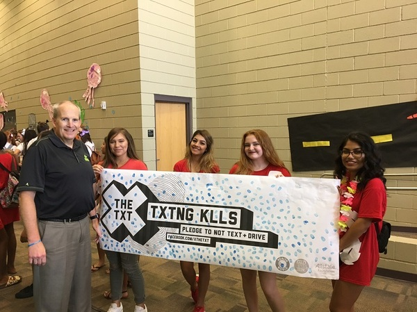 Michael Scheuring - Valley Vista High School Students Take X the TXT® Pledge
