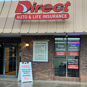 Front of Direct Auto store at 130 Desoto Avenue, Clarksdale