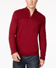 Image of Alfani Men's Quarter-Zip Knit Sweater, Created for Macy's