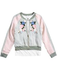 Image of Beautees 2-Pc. Bomber Jacket & Tank Top Set, Big Girls (7-16)