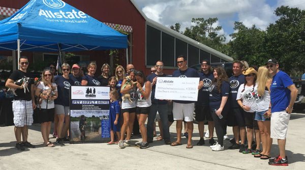 Dania Carlyle - Allstate Foundation Helping Hands Grant for Barky Pines Animal Rescue