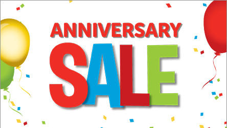 Anniversary Sale through August 16th