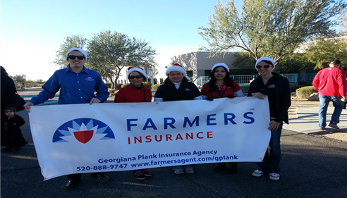 The Plank agency at the 2013 Oro Valley, AZ Holiday Parade!