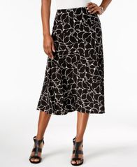 Image of JM Collection Printed Jacquard Midi Skirt, Created for Macy's