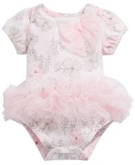 Image of First Impressions Baby Girls Floral-Print Tutu Bodysuit, Created for Macy's
