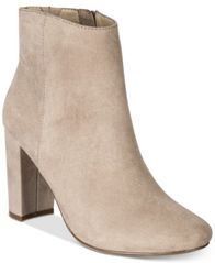 Image of Material Girl Cambrie Block-Heel Booties, Created for Macy's