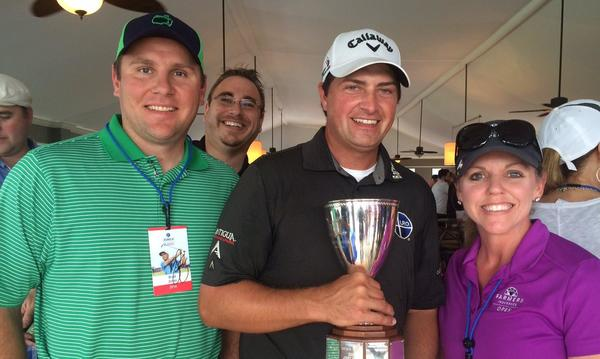 PGA professional golfer, Brian Stuard takes the trophy at the Zurich Classic in New Orleans, LA!