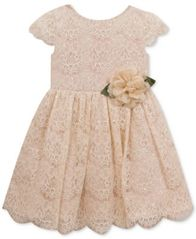 Image of Rare Editions Sequin Lace Dress, Little Girls