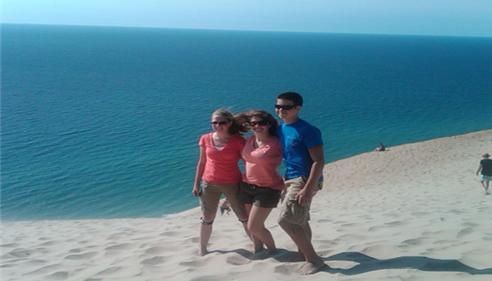 My wonderful children at the Sleeping Bear Dunes in Northern Michigan!