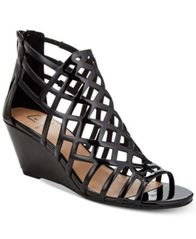 Image of Material Girl Henie Caged Demi Wedge Sandals, Created for Macy's