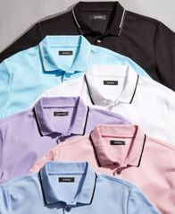 Image of Alfani Men's Classic Fit Tipped Polo, Created for Macy's