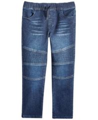 Image of Epic Threads Little Boys Moto Knit Denim Jeans, Created for Macy's