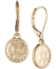Image of lonna & lilly Gold-Tone Hammered Disc Drop Earrings