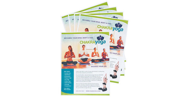 Yoga flyers on white background