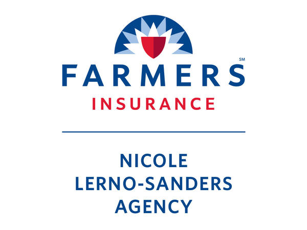 "Farmers Insurance logo with the agency name ""Nicole Lerno-Sanders Angency""."