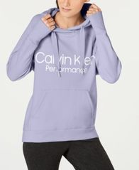 Image of Calvin Klein Performance Logo Fleece Hoodie
